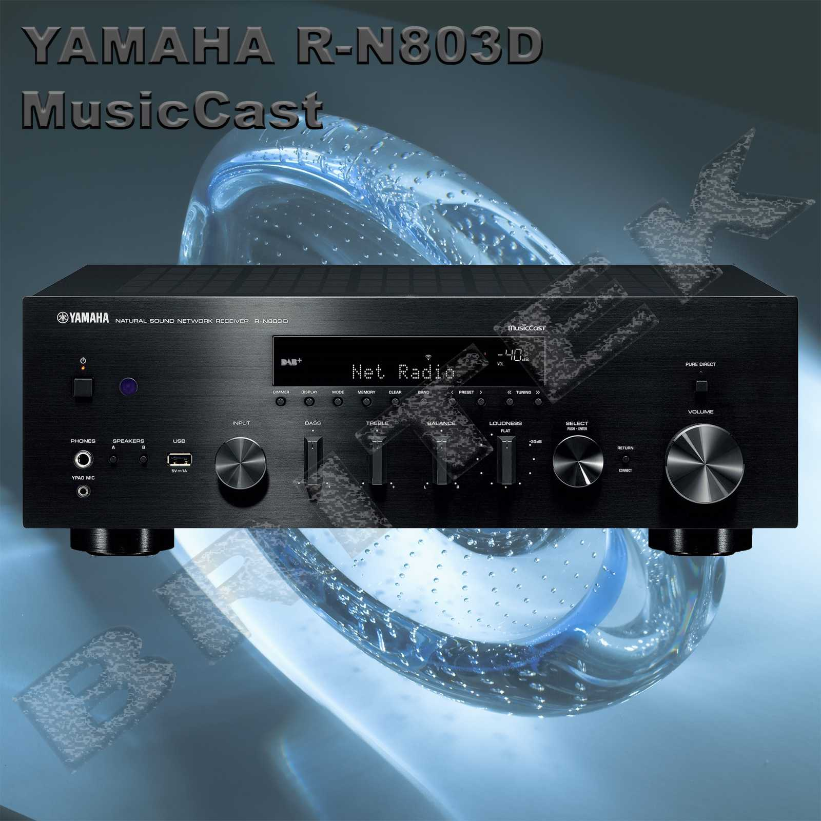 yamaha r n803d s ov stereo receiver 2x160w. Black Bedroom Furniture Sets. Home Design Ideas