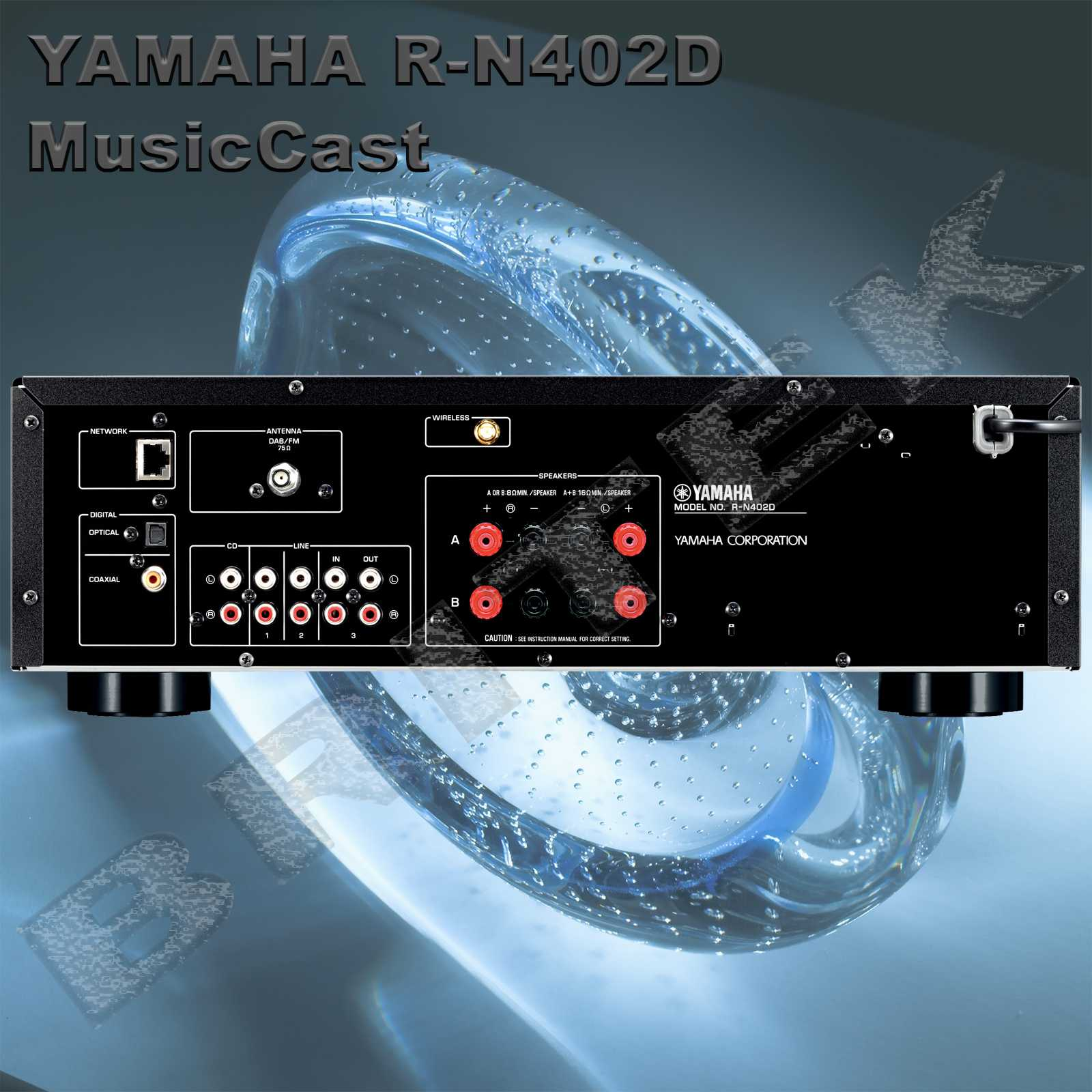 yamaha r n402d s ov stereo receiver. Black Bedroom Furniture Sets. Home Design Ideas